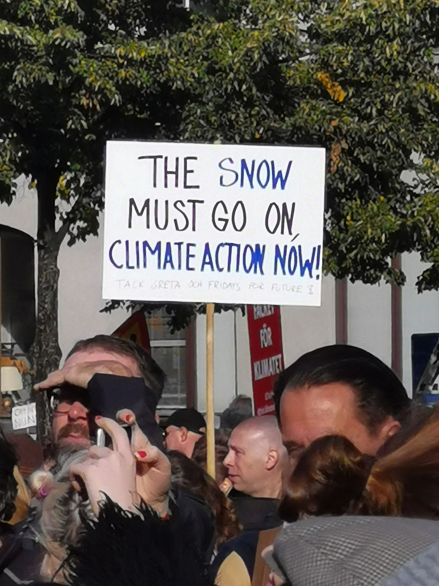 The snow must go on! // Global Climate Strike 2019-09. Bild: copy Susanne / kalixsussi