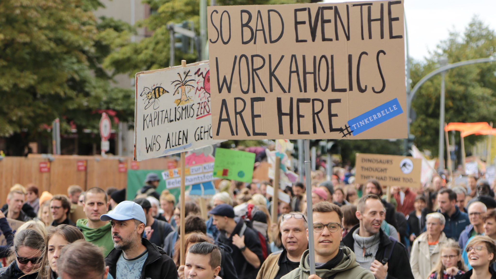 So bad even the workaholics are here. // Global Climate Strike. Bild: copy WWF Deutschland