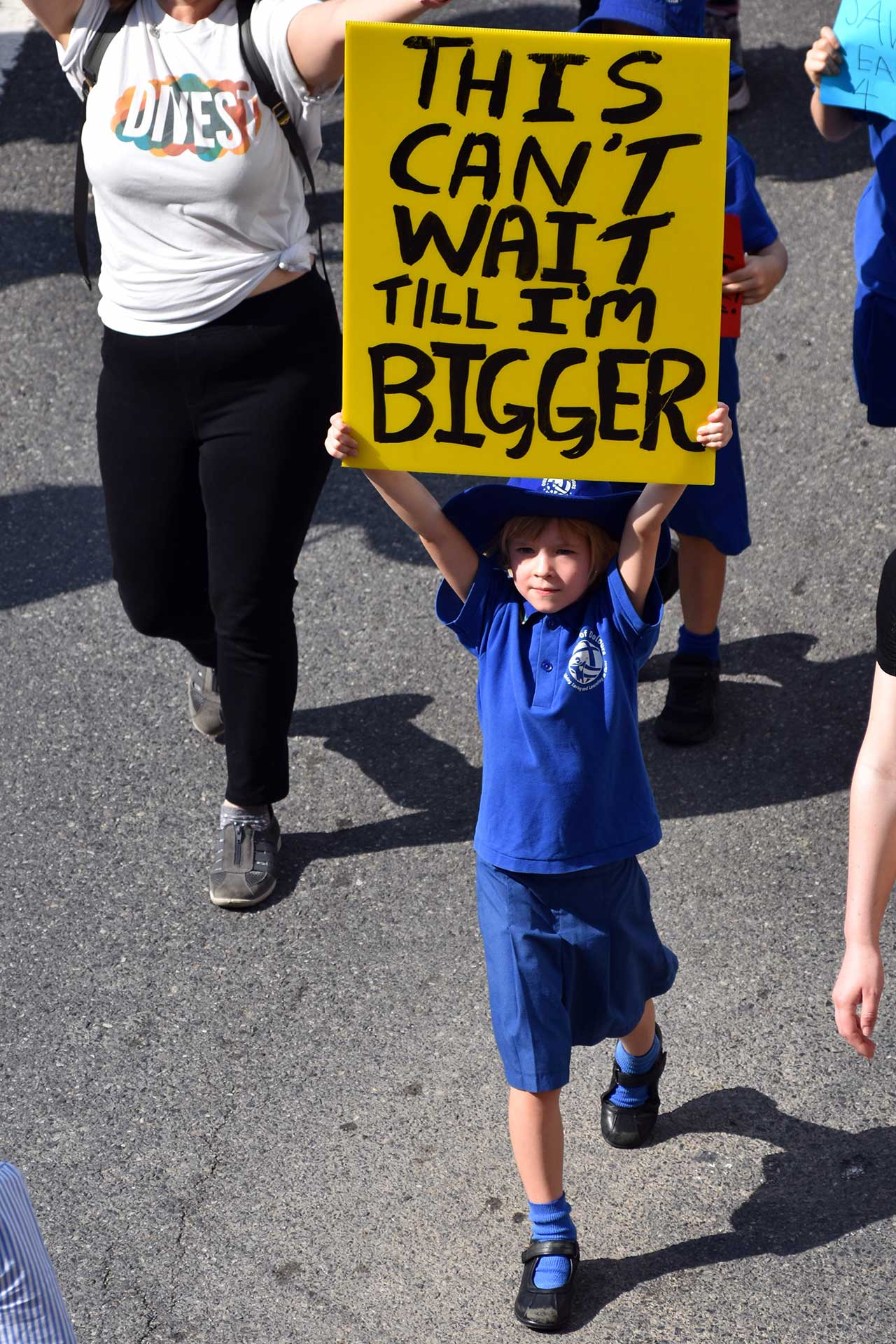 This can't wait until I am bigger. // Global Climate Strike. Bild: cc School Striker / Climate Strikes