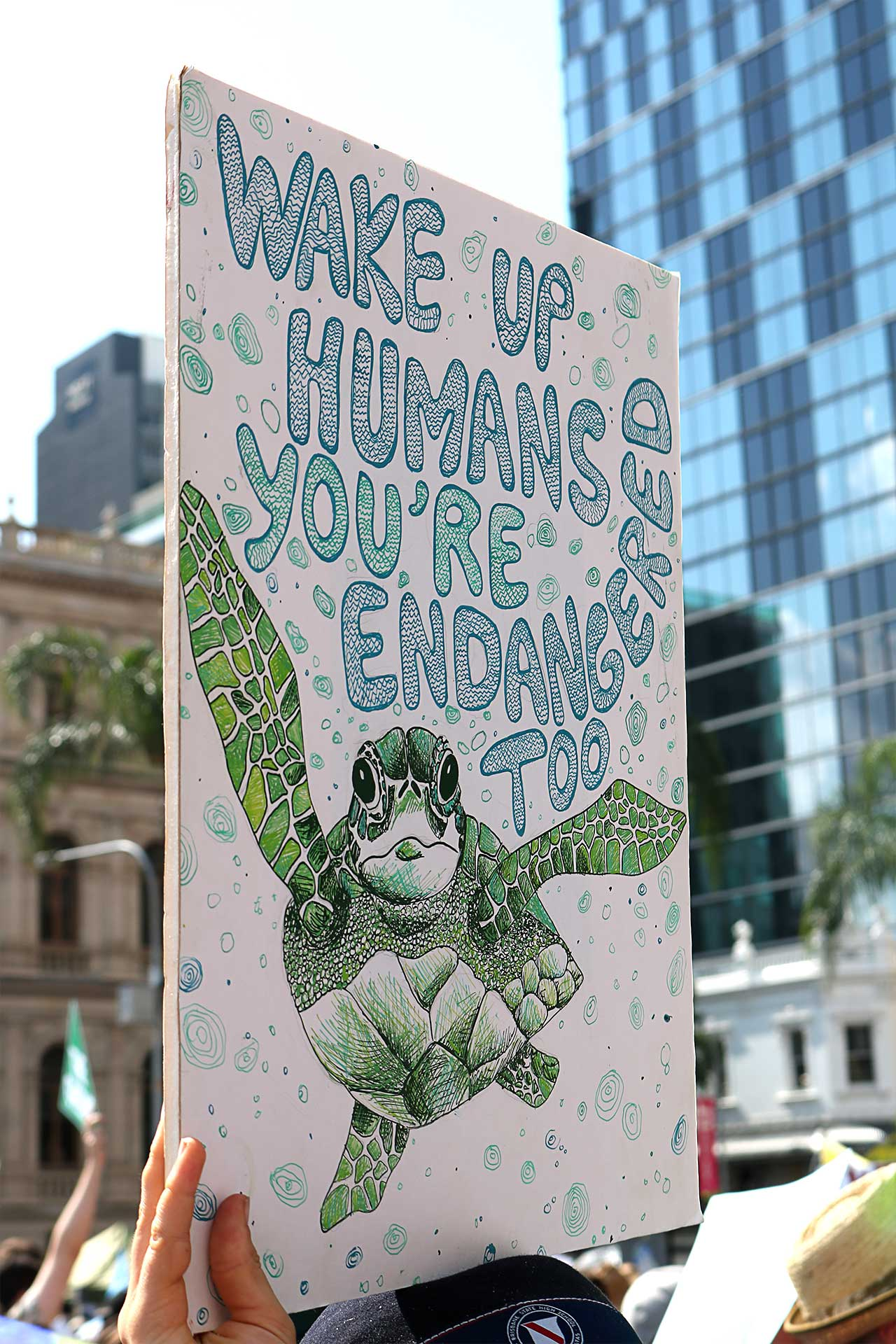 Wake up humans! You're endangered, too! // Global Climate Strikes. Bild: cc School Striker / Climate Strikes